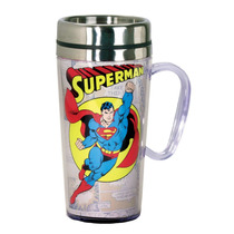 Taza Termo Superman Clasico Dc Comics Insulated Cafe Vaso