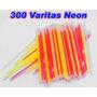 Set De 300 Varitas Neon Más 300 Seguros Varios Colores Xaris