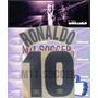 Estampado Inter Visita 1997 #10 Ronaldo Material En Flock