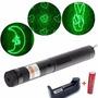 Apuntador Laser Verde 1000 Mw Recargable 6 Patrones Potente