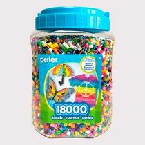 Perler Beads :: Bote Con 18,000 Cuentas Y Colores Surtidos