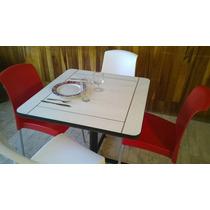 Mesas Cafeteria C/4 Sillas, Restaurante, Barras, S/ Pedido