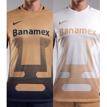 Jersey Pumas 2015-2016 Local Y Visit Oro Blanco Playera Unam