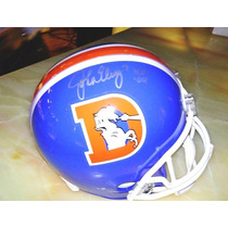 Casco Replica Riddell Firmado En Persona John Elway Broncos.