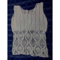 Blusa Tejida A Mano Estilo Crochet Talla Mediana Nueva