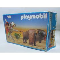 Playmobil Vintage Indio Con Bufalo Set 3731 En Caja Completo