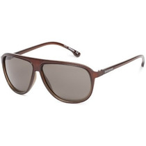 Gafas Diesel Dl A Aviator Sunglasses Brillante Marrón