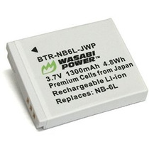 Batería De Alimentación Wasabi Para Canon Nb-6l Nb-6lh Y Can