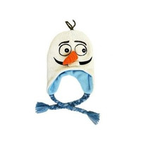 Disney Congelado Olaf Gorro De Lana De Punto Snowman Lapón C