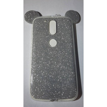 Tpu Transparente Orejas Mickey Mouse Moto G4 Color Plata