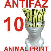 10 Antifaces Fiesta Animal Print Boda Xv Antifaz Gatubela