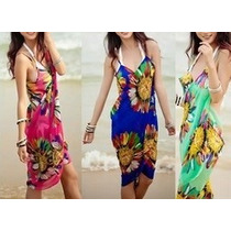 Hermosos Pareos Tipo Vestido Unitalla 4 Colores Disponibles