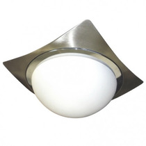 Lámpara Plafon Decorativo Acero Inoxidable Led Cristal