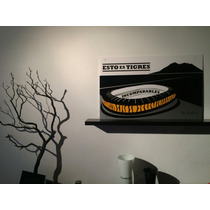 Cuadro Minimalista Tigres Uanl Fut Bol Soccer Decoracion Art