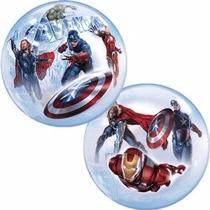 Globo Avengers Paquete 3 Pzas Bubble Qualatex Para Helio