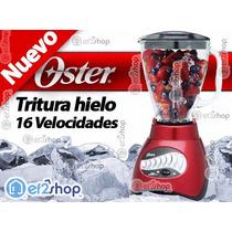 Licuadora Tritura Hielo Oster 16 V. Frappe Cocina Chef Roja