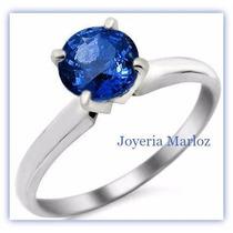 Anillos De Compromiso 14kt Con Zafiro Azul Natural De 5mm