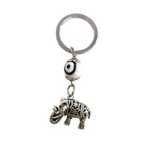 Llavero Elefante En Acero Inoxidable Mod. Ek004