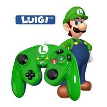 Wired Fight Pad Luigi Nintendo Wii U Gaming En Caja Control