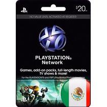 Gift Card Playstation Network $20 Usd Mexico Ps Vita Ps3 Ps4
