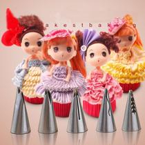 Duyas Rusas O Tulipan Para Vestidos Muñeca Set 5 Unidades