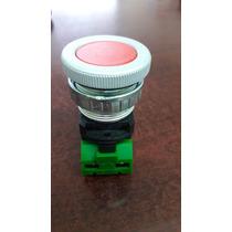 Boton Pulsador Rojo 30mm, Uso Pesado, Metalico
