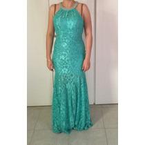 Vestido De Noche Sirena Menta Talla M Hermoso Envio Gratis