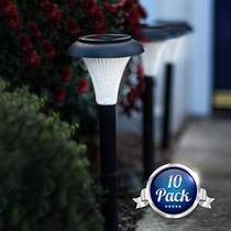 Gardenjoy Energía Solar Led Luces Jardín, Negro, Conjunto De
