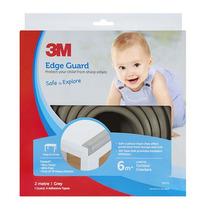 Protección Esquinas Filos Mesas Bebe Primeros Pasos Gris 3m