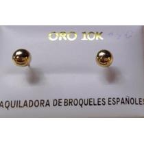 Preciosos Broquelitos De Bebè Oro 14 Y 10 K Incluye Regalo ¡