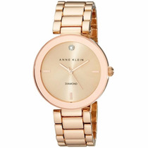 Reloj Anne Klein Dama Rose Gold Diamante Ak1362rgrg Watchito