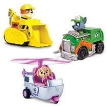 Patrulla De Cachorros Racers 3-pack Set Vehículo Escombros /