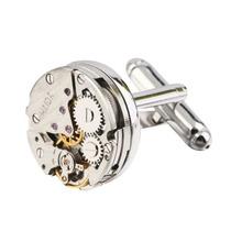 Mancuernillas Reloj Engrane Plateadas Calidad Y Precio Boda