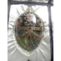 Juego De 2 Elegantes Esferas Navideñas Decoradas A Mano En