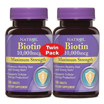 Natrol Biotina Mcg 10000 Maximum Strength Tablets 100 Count