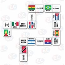 Edu-136 Domino América Bandera Capitales 28 Pzas 4+ Eduplas