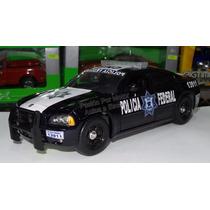 1:24 Dodge Charger 2006 Jada Policia Federal Azul C Luz