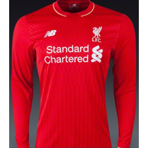 Jersey Liverpool New Balance 2016 Local Original Manga Larga