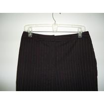 Pantalon Ann Taylor T-6 Formal Negro Con Rayas