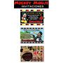 Invitaciones De Cumpleaños Mickey Mouse Disney Fiesta