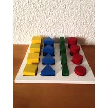 Juego Didáctico De Madera Figuras Geométricas Nivel