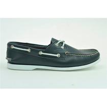 Zapato De Piel Top Sailer Modelo 501 Azul Marino