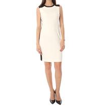 Vestido Calvin Klein 8 Blanco Y Negro Contraste Elegante