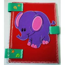 Libreta Decorada Con Foamy (elefante). Manualidad