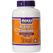 Now Foods Acetil L-carnitina 500mg 200 Vcaps