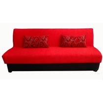 Sofa Cama Antonia Rojo, 3 Posiciones Con Cobijero