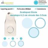 Perforadora Scallop Circulo 3 En 1 Martha Stewart Scrapbook