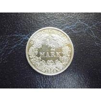 Alemania 1/2 Marco Fecha 1906 Plata Ley 0.800