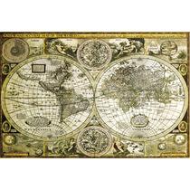 Mapa Del Mundo Antiguo Cartel - Maxi Histórico 61x 91.5cm