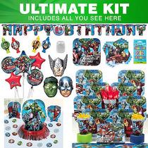 Kit Vengadores Fiesta De Cumpleaños De Ultimate Sirve 8